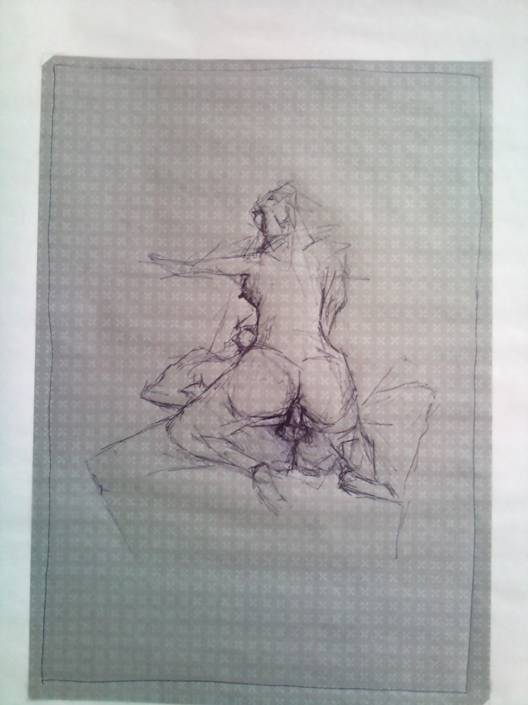 How to draw a couple having sex